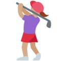Woman Golfing: Medium Skin Tone on Twitter Twemoji 11.3