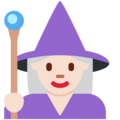 Woman Mage: Light Skin Tone on Twitter Twemoji 11.3