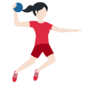 Woman Playing Handball: Light Skin Tone on Twitter Twemoji 11.3