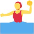 Woman Playing Water Polo on Twitter Twemoji 11.3