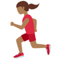Woman Running: Medium-Dark Skin Tone on Twitter Twemoji 11.3