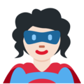 Woman Superhero: Light Skin Tone on Twitter Twemoji 11.3