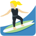 Woman Surfing: Medium-Light Skin Tone on Twitter Twemoji 11.3