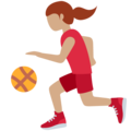 Woman Bouncing Ball: Medium Skin Tone on Twitter Twemoji 11.3