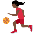 Woman Bouncing Ball: Dark Skin Tone on Twitter Twemoji 11.3