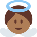 Baby Angel: Medium-Dark Skin Tone on Twitter Twemoji 12.0