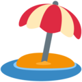 Beach With Umbrella on Twitter Twemoji 12.0