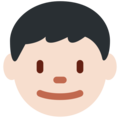 Boy: Light Skin Tone on Twitter Twemoji 12.0