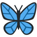 Butterfly on Twitter Twemoji 12.0