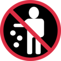 No Littering on Twitter Twemoji 12.0