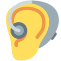 Ear With Hearing Aid on Twitter Twemoji 12.0