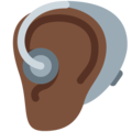Ear With Hearing Aid: Dark Skin Tone on Twitter Twemoji 12.0