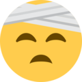 Face With Head-Bandage on Twitter Twemoji 12.0