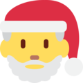Santa Claus on Twitter Twemoji 12.0