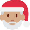 Santa Claus: Medium Skin Tone on Twitter Twemoji 12.0