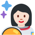Woman Astronaut: Light Skin Tone on Twitter Twemoji 12.0