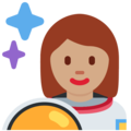 Woman Astronaut: Medium Skin Tone on Twitter Twemoji 12.0