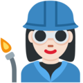 Woman Factory Worker: Light Skin Tone on Twitter Twemoji 12.0