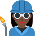 Woman Factory Worker: Dark Skin Tone on Twitter Twemoji 12.0
