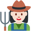 Woman Farmer: Light Skin Tone on Twitter Twemoji 12.0