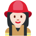 Woman Firefighter: Light Skin Tone on Twitter Twemoji 12.0