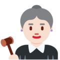 Woman Judge: Light Skin Tone on Twitter Twemoji 12.0