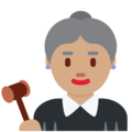 Woman Judge: Medium Skin Tone on Twitter Twemoji 12.0