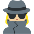 Woman Detective: Medium-Light Skin Tone on Twitter Twemoji 12.0