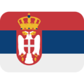 Flag: Serbia on Twitter Twemoji 12.0