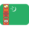 Flag: Turkmenistan on Twitter Twemoji 12.0