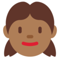 Girl: Medium-Dark Skin Tone on Twitter Twemoji 12.0