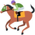 Horse Racing: Medium-Dark Skin Tone on Twitter Twemoji 12.0