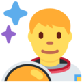 Man Astronaut on Twitter Twemoji 12.0