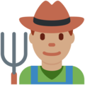Man Farmer: Medium Skin Tone on Twitter Twemoji 12.0