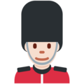 Man Guard: Light Skin Tone on Twitter Twemoji 12.0
