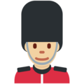 Man Guard: Medium-Light Skin Tone on Twitter Twemoji 12.0
