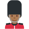 Man Guard: Medium-Dark Skin Tone on Twitter Twemoji 12.0