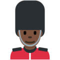 Man Guard: Dark Skin Tone on Twitter Twemoji 12.0