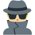 Man Detective: Medium-Light Skin Tone on Twitter Twemoji 12.0