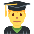 Man Student on Twitter Twemoji 12.0
