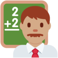 Man Teacher: Medium Skin Tone on Twitter Twemoji 12.0
