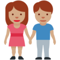 Woman and Man Holding Hands: Medium Skin Tone on Twitter Twemoji 12.0