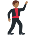 Man Dancing: Medium-Dark Skin Tone on Twitter Twemoji 12.0