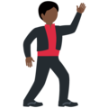 Man Dancing: Dark Skin Tone on Twitter Twemoji 12.0