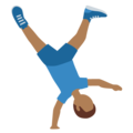 Man Cartwheeling: Medium-Dark Skin Tone on Twitter Twemoji 12.0