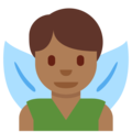 Man Fairy: Medium-Dark Skin Tone on Twitter Twemoji 12.0