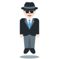 Man in Suit Levitating: Light Skin Tone on Twitter Twemoji 12.0
