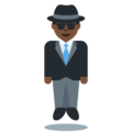 Man in Suit Levitating: Dark Skin Tone on Twitter Twemoji 12.0