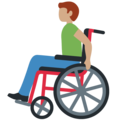 Man in Manual Wheelchair: Medium Skin Tone on Twitter Twemoji 12.0