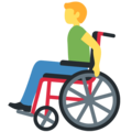 Man in Manual Wheelchair on Twitter Twemoji 12.0